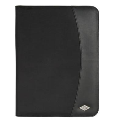 Schreibmappe Elegance schwarz A4