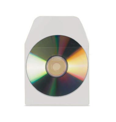 CD/DVD-Tasche selbstklebend transp. 127x127mm 10 St