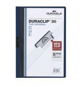 Klemmhefter DURACLIP 30 2200-28, A4, für ca. 30 Blatt, Kunststoff, blau