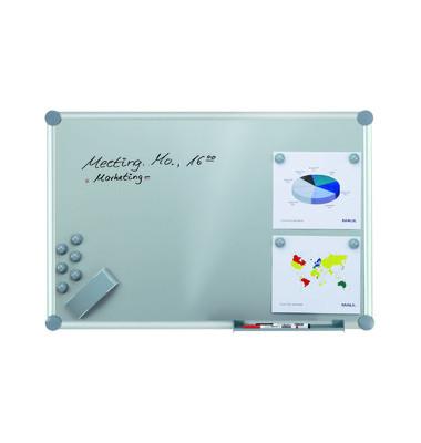 Whiteboard 2000 MAULpro silver 120 x 90cm kunststoffbeschichtet Aluminiumrahmen inkl. Marker + Magnete