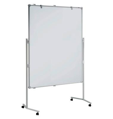 Moderationstafel Pro 638 04 82, 120x150cm, Textil + Whiteboard (beidseitig), pinnbar, beschreibbar, magnetisch, mit Rollen, blau