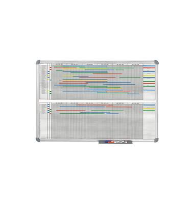 Planungstafel Jahresplaner grau 90x120cm magneth.