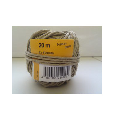 Bindfaden Naturfaser mittelstark 2-fach D:2mm x 20m