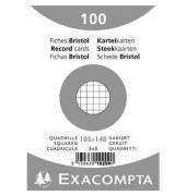 Karteikarten 10209E A6 kariert 205g weiß 100 Stück