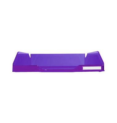 Briefablage Combo 2 A4 / C4 violett-transparent staplebar