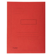 Aktenmappe 2 Klappen rot 24x32 cm intensiv