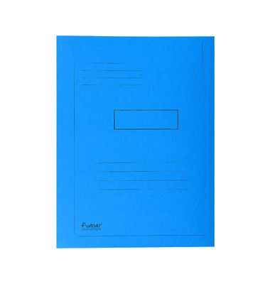 Aktenmappe 2 Klappen blau 24x32 cm intensiv