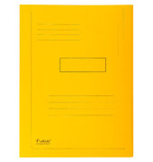 Aktenmappe 2 Klappen gelb 24x32 cm intensiv