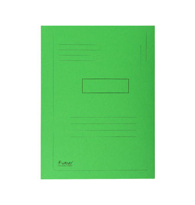 Aktenmappe 2 Klappen grün 24x32 cm intensiv