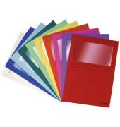 Sichtmappe Forever 5010 A4 120g Papier violett für lose Blätter mit Sichtfenster 100 Stück