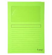 Sichtmappe Forever 5010 A4 120g Papier hellgrün für lose Blätter mit Sichtfenster 100 Stück