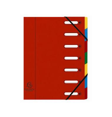 Harmonika Ordnungsmappe 7Tlg rot Colorspan intensiv