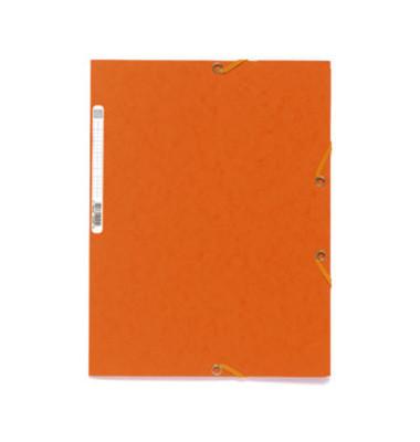 Sammelmappe mit Gummi A4 400g orange Colorspan intensiv