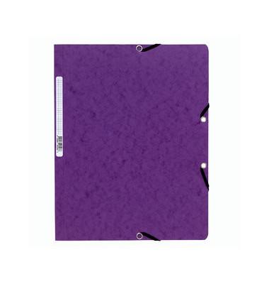 Eckspannmappe 5568E A4 400g violett