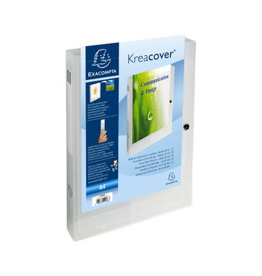 Sammelmappe Kreacover 59988E, A4 Kunststoff, für ca. 350 Blatt, farblos transparent
