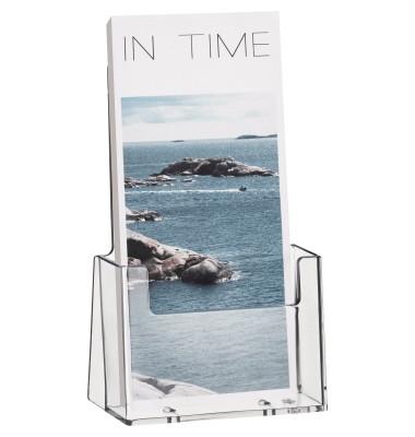 Tischprospekthalter f.1x1/3 A4 glasklar Acryl