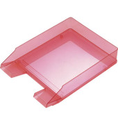 Briefablage Economy H23615  A4 / C4 rot-transparent stapelbar