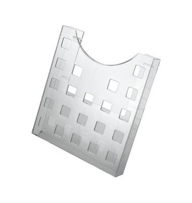 Prospekthalter grau/transparent Format DIN A4