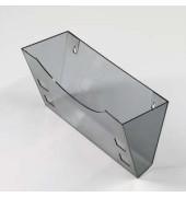 Wandhalter A4 Prospekthalter grau/transparent