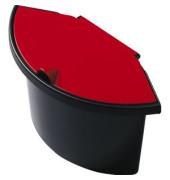 Abfalleinsatz 2 Liter mit Deckel für H61057/58 schwarz/rot