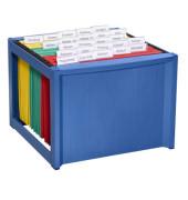 Hängemappenbox H61100 blau bis 40 Mappen leer stapelbar