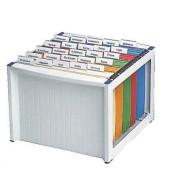 Hängemappenbox H61100 grau bis 40 Mappen leer stapelbar