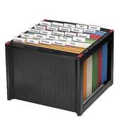Hängemappenbox schwarz/rot 260x360x380mm für 40 Mappen A4