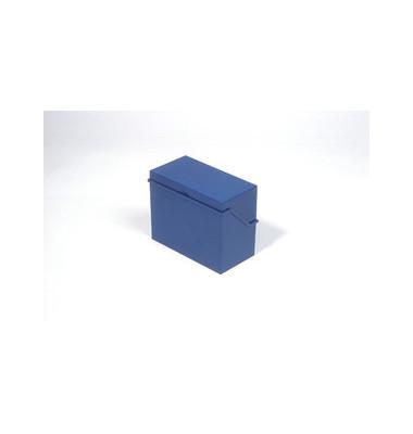 Karteikasten A6 quer für 400 Karten blau