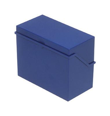 Karteikasten A7 quer für 300 Karten blau