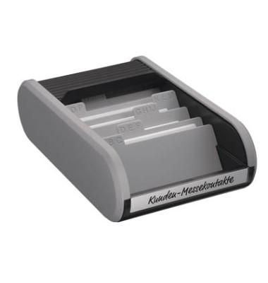 Visitenkartenbox f.300 St sw/gr 67x136x240mm