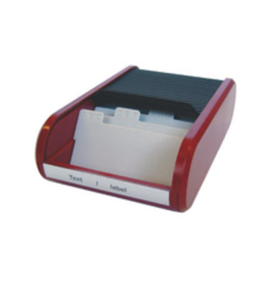 Visitenkartenbox f.300 St sw/ro 67x136x240mm