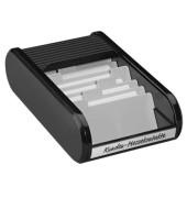 Visitenkartenbox f.300 St schwarz 67x136x240mm