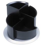 Multiköcher drehbar mit 4 Fächern schwarz/silber 150x112mm