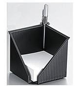 Zettelbox Linea 127 x 127 x 108mm schwarz Inhalt 100 x 100mm weiß