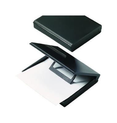 Zettelbox 113 x 103 x 30mm mit Deckel und Papiervorschub schwarz Inhalt leer für A7