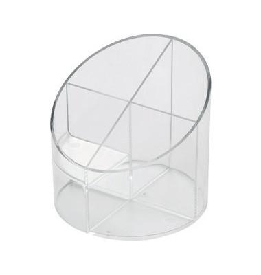Multiköcher mit 4 Kammern glasklar 11x11x10,5cm