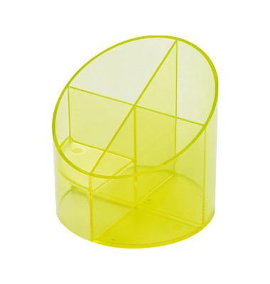 Multiköcher mit 4 Kammern gelb 11x11x10,5cm