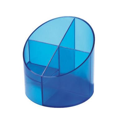 Multiköcher mit 4 Kammern blau 11x11x10,5cm