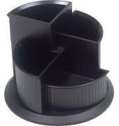Multiköcher drehbar 112mm hoch schwarz 150 mm Dm. 4Kammern