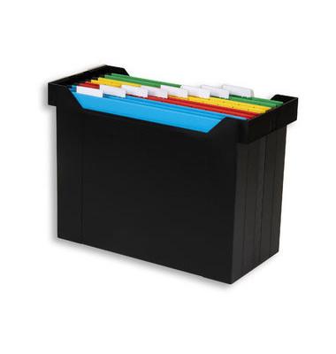 Hängemappenbox Go-Set schwarz mit 8 farbigen Mappen
