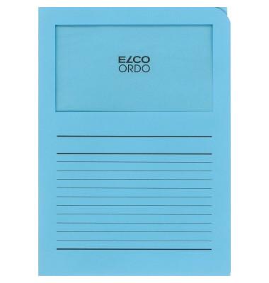 Organisationsmappe Ordo classico, blau, m. Sichtfenster 180 x 100 mm