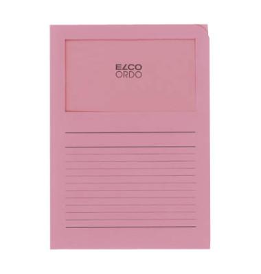 Sichtmappe Ordo classico 29488 A4 120g Papier rosa für lose Blätter mit Sichtfenster