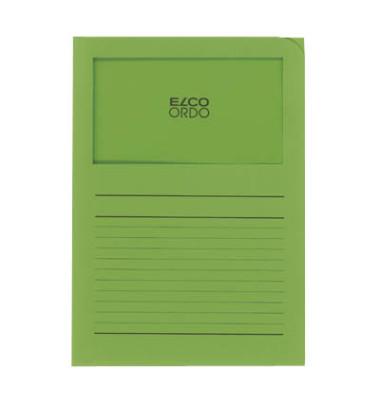 Sichtmappe Ordo classico 29488 A4 120g Papier intensivgrün für lose Blätter mit Sichtfenster