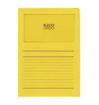 Sichtmappe Ordo classico 29488 A4 120g Papier intensivgelb für lose Blätter mit Sichtfenster