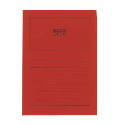 Sichtmappe Ordo classico 29488 A4 120g Papier intensivrot für lose Blätter mit Sichtfenster