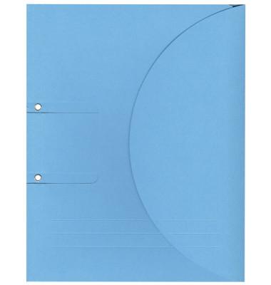 Ablagemappe Ordo collecto, int.blau mit Seitenfalte 10mm, 2 Ösen und