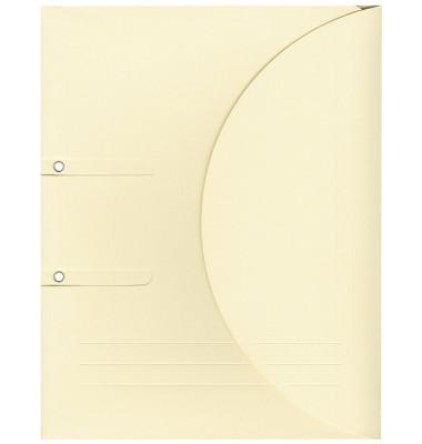 Ablagemappe Ordo collecto, hellchamois mit Seitenfalte 10mm, 2 Ösen und