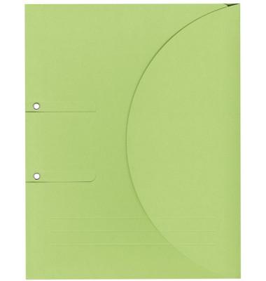 Ablagemappe Ordo collecto, int.grün mit Seitenfalte 10mm, 2 Ösen und