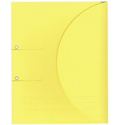 Ablagemappe Ordo collecto, int.gelb mit Seitenfalte 10mm, 2 Ösen und
