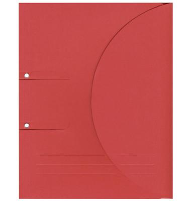Ablagemappe Ordo collecto, int.rot mit Seitenfalte 10mm, 2 Ösen und